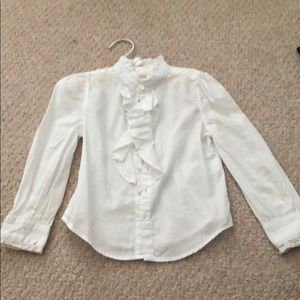 White classic and modern blouse